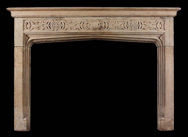Tudor Gothic antique chimneypiece.   Fireplaces   Pinterest   Tudor