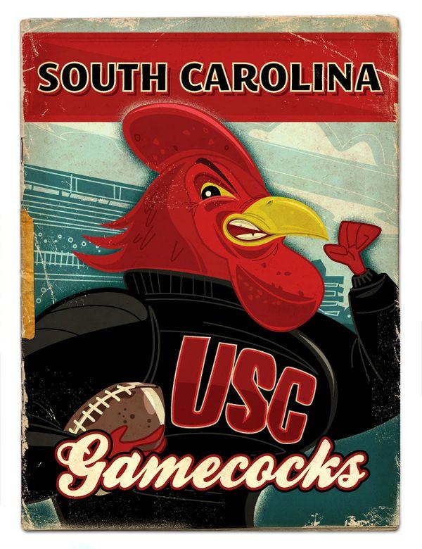 South Carolina Gamecocks - SEC football by Thomas Burns.