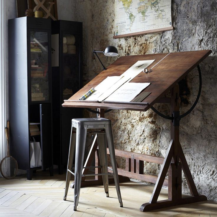 nice.drafting table.Toile planisphère Discipline,  et bureau d'architecte Périmètre Am.Pm