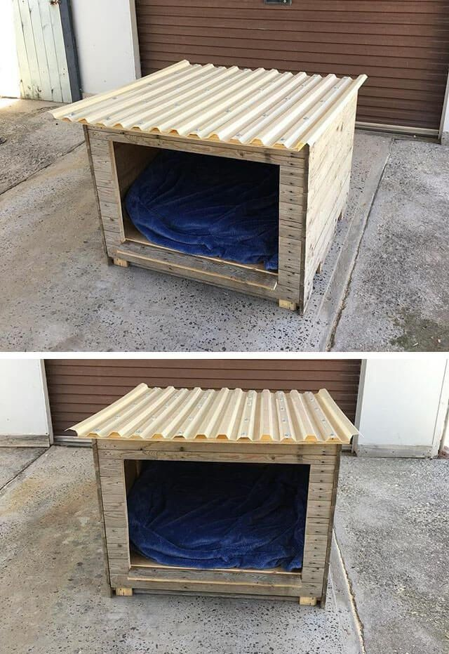 Pallets Wood Dog House Pallet Furniture Diy Wood Dog House