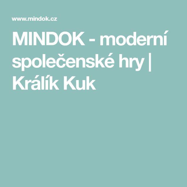 MINDOK - moderní společenské hry | Králík Kuk