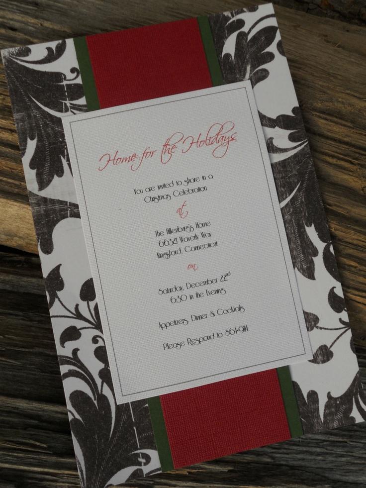 homemade invitations Christmas