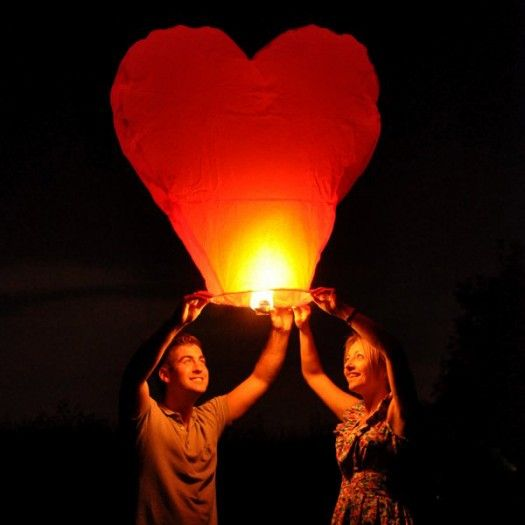 Kalp Şeklinde Dilek Feneri
