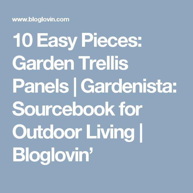 10 Easy Pieces Chimineas Gardenista: Best 20+ Trellis Panels Ideas On Pinterest