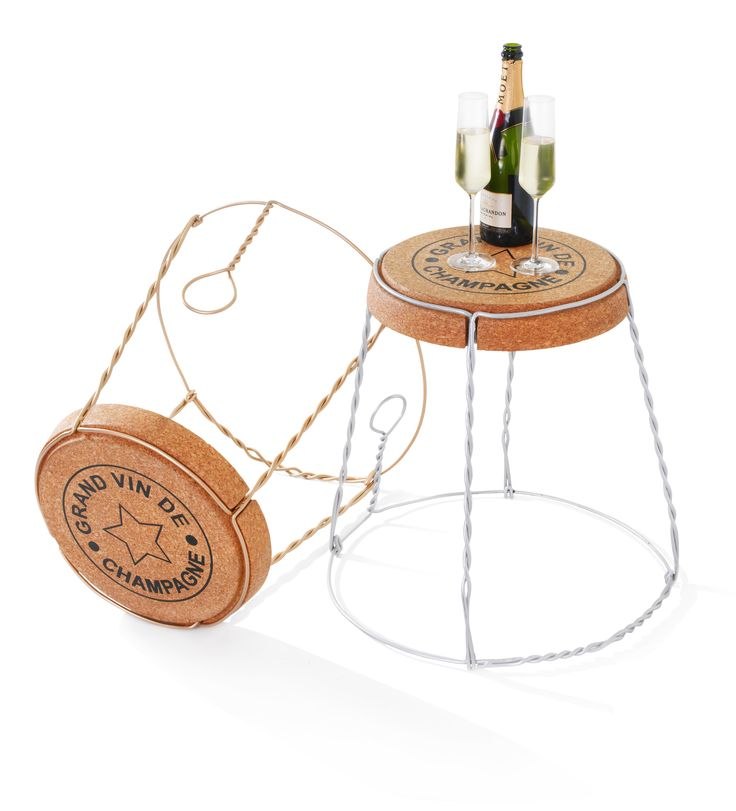 Side Table In Champagne Cork Wire Cage Design. The Champagne Cork Wire Cage Side  Table Is A Truly Great Unique Piece Of Furniture Both Indoors And Out. Photo