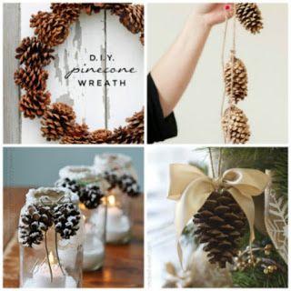 donneinpink - risparmio e fai da te: Decorazioni di Natale fai da te con le pigne
