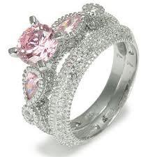Pink Diamond Engagement Set