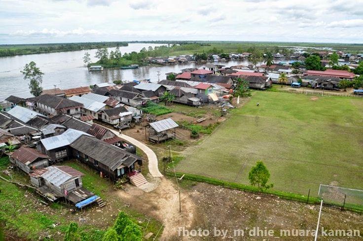 Muara Kaman Tengah: Muara Sungai Desa Muara Kaman Hulu, Kalimantan Timur, Indonesia