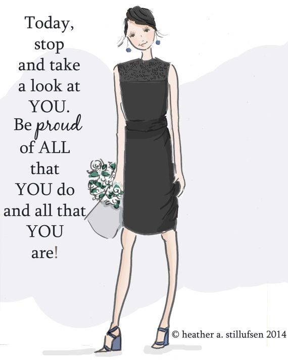 Wall Art for Women Be Proud of You Wall by RoseHillDesignStudio