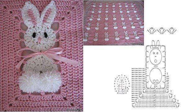 couvre lit b b au crochet broderie et tricot pinterest crochet. Black Bedroom Furniture Sets. Home Design Ideas