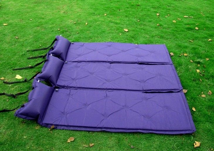26.39$  Watch now - http://dix1w.justgood.pw/ali/go.php?t=32697039085 - Pu automatic inflatable mattress inflatable outdoor moisture pad thick cushions large outdoor tent sleeping pad 26.39$