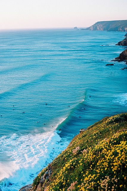 Porthtowan: a small village in St Agnes Parish, Cornwall, England, in the United Kingdom, and a popular summer tourist destination which lies within the Cornwall and West Devon Mining Landscape, a World Heritage Site.
