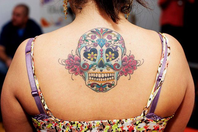 Sugar skull tattoo ink Tattoo Art