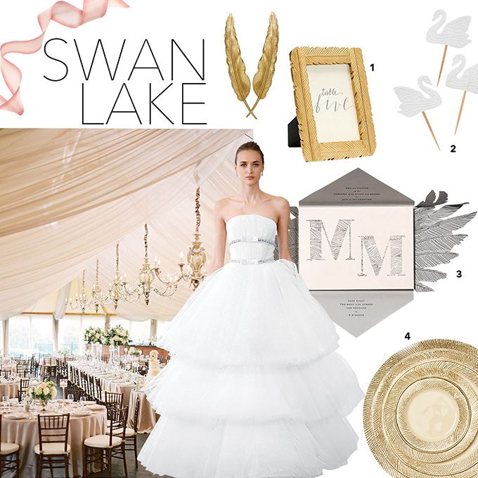 Swan lake ballet wedding theme for you to become a princess!