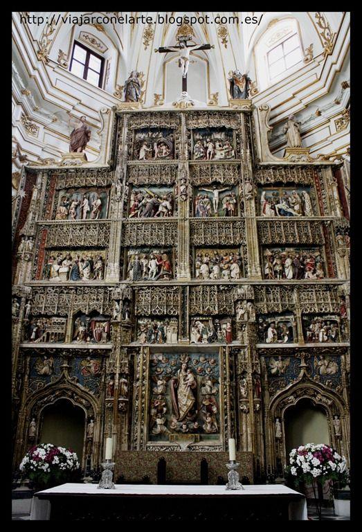 Retablo de alabastro policromado - Cartuja de Santa María de El Paular, en Rascafría.