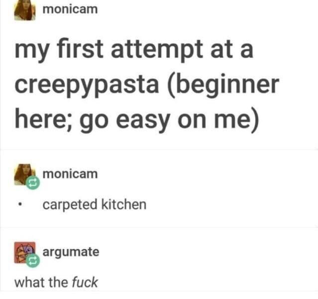 Carpeted Kitchen Funny Texts Relatable Post Good Jokes