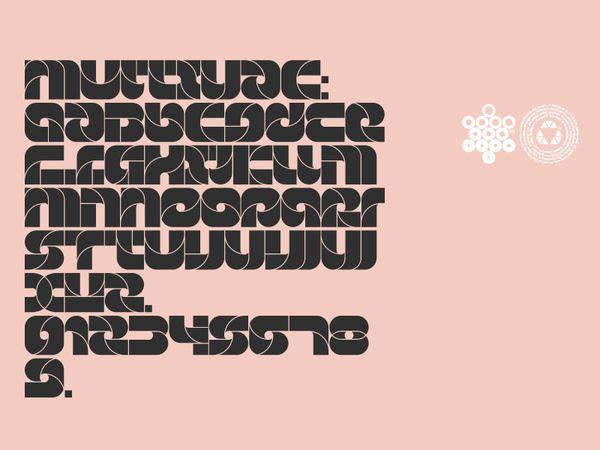 Multivac Shingo Unoa, 2012. by Attila Horvath / Official Classic, via Behance: Multivac Shingo Unoa, Multivac Alphabet, Types Release, Official Classic, Attila Horvath, Multivac Abc, Multivac 2012