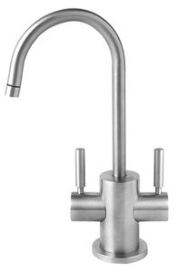 Hot & Cold Water Faucet with Contemporary Round Body & Handles