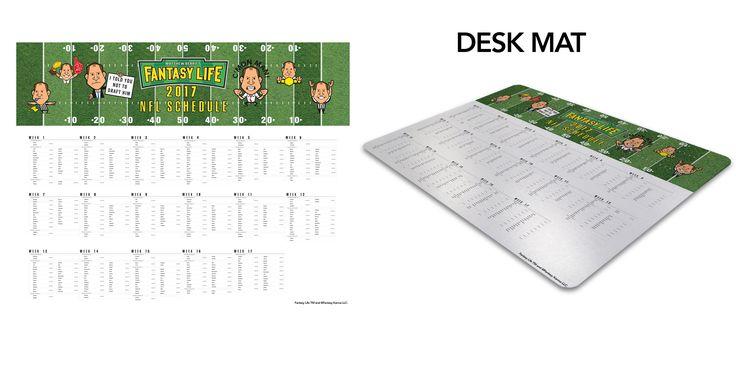 Matthew Berry Pro Football Schedule Desk Mat