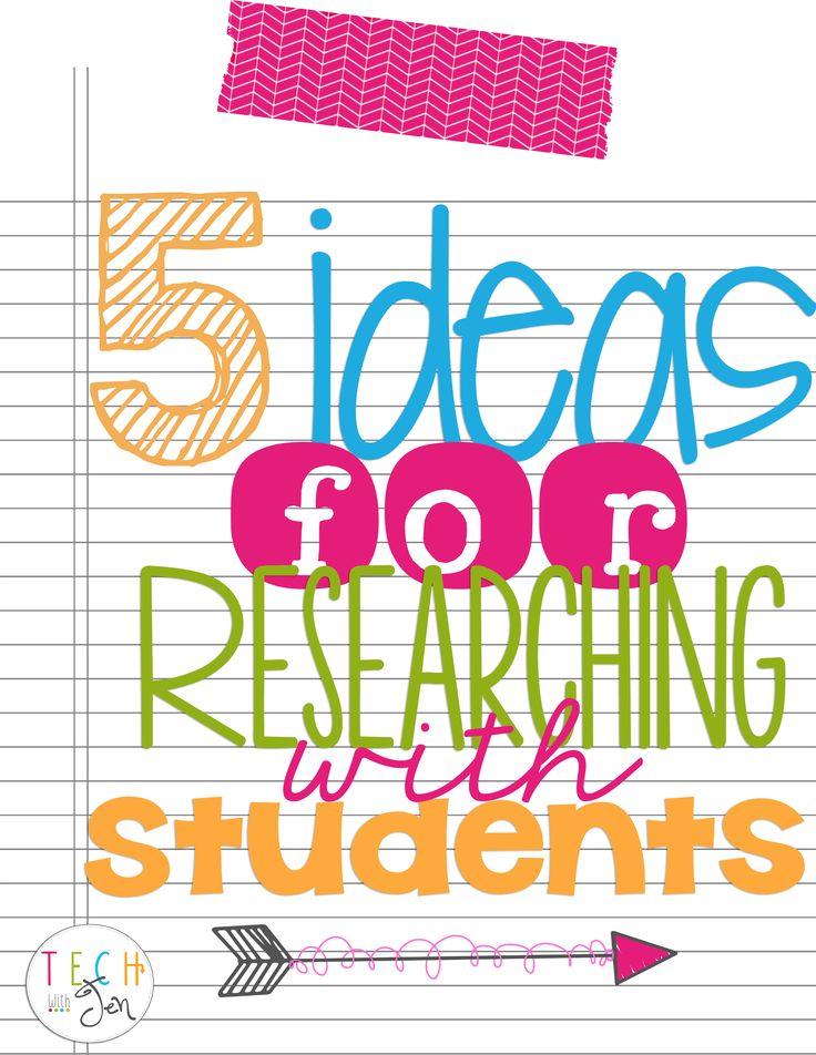 5 ideas for teaching research skills in the classroom. I had no idea about the fifth idea.