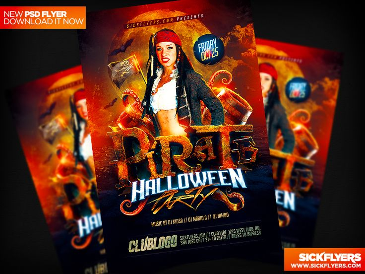 Pirate Party Flyer Template PSD by Industrykidz
