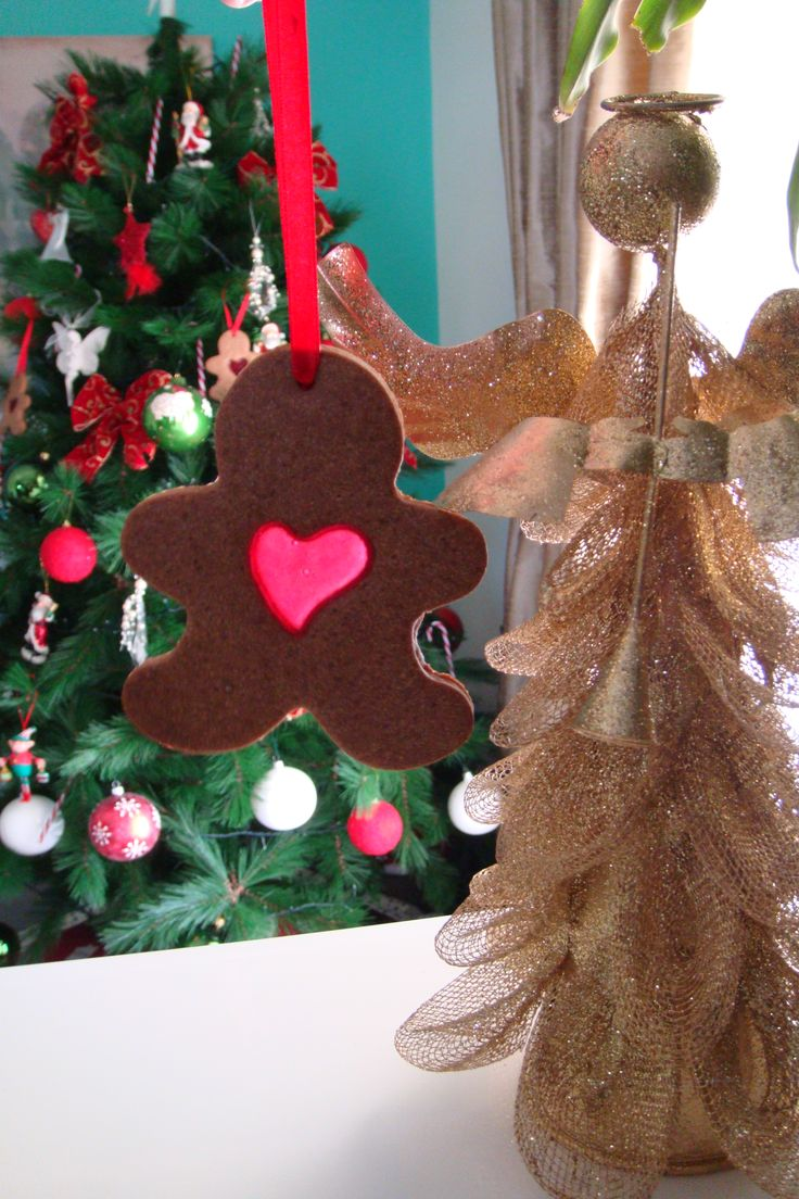 Christmas cookie with caramel heart