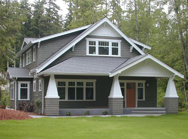 17 best images about bungalow craftsman cottages on for L shaped craftsman home plans