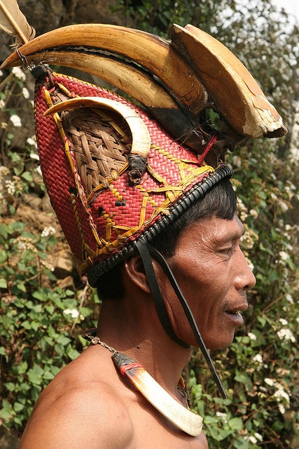 India - Nagaland | Konyak Naga people at Wakching village. |  © Walter Callens