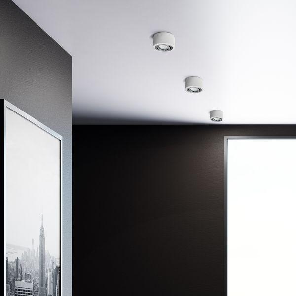 Flacher Decken Aufbauspot weiß schwenkbar inkl. LED Modul 5W dimmbar neutralweiß 230V