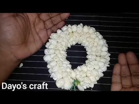 Easy method to string rose petals garland - YouTube