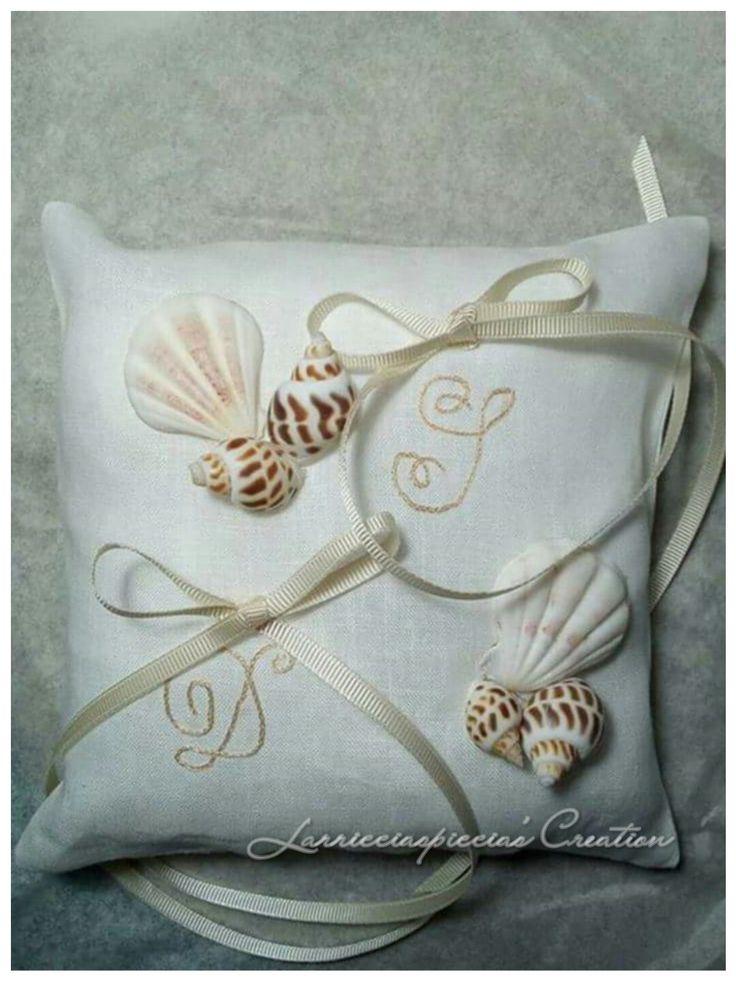 Cuscinetto porta fedi in puro lino bianco
