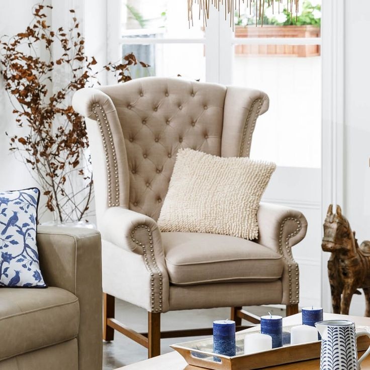 Crown Wing Chair - Armchairs - Upholstery