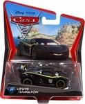Name: Lewis Hamilton Manufacturer: Mattel Toys Series: Disney / Pixar Cars 2 Movie 1:55 Die Cast Car (Hot Wheels Size) Release Date: May 2011 Card Number: 24 For ages: 4 and up Details (Description): All your favorite characters from the Disney Pixar film, CARS 2, in 1:55th scale. With authentic styling and details, these die cast characters are perfect for recreating all the great scenes from the movie. Collect them all! Star racecar Lightning McQueen and the incomparable tow truck Mater…