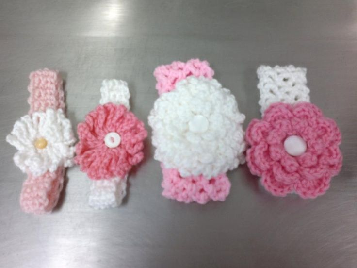 Crochet Headband Pattern Newborn : Pinterest The world s catalog of ideas