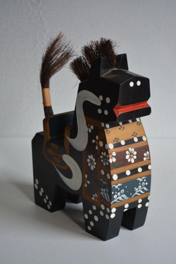 Black Hachinohe Yahata-koma horse dolllarge by StyledinJapan