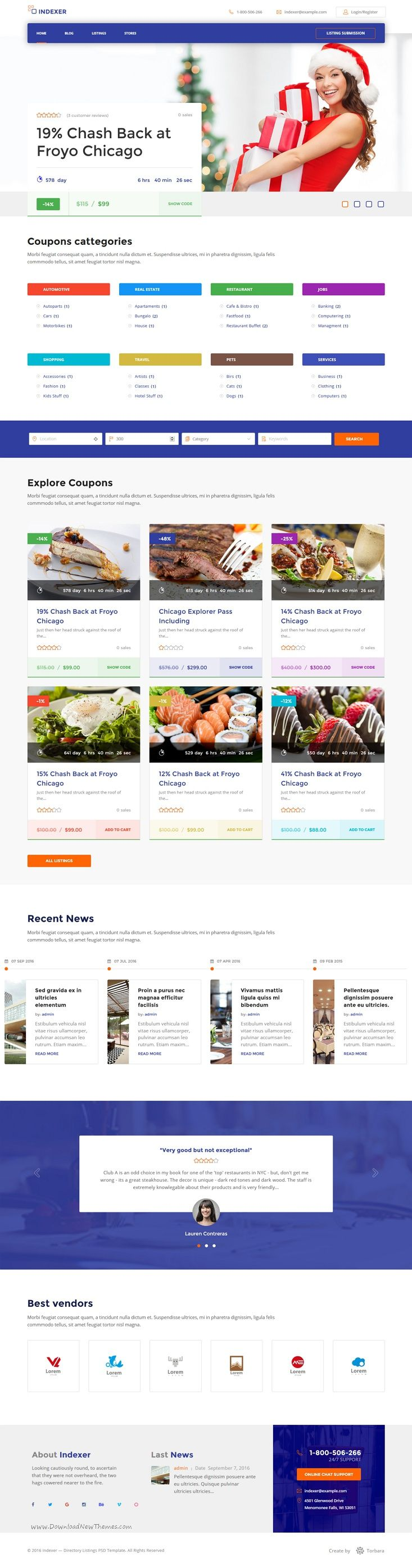 Indexer is a multipurpose #WordPress #Directory & #Listing Template and it best suitable for #Coupons & Discounts website download now➩ https://themeforest.net/item/multipurpose-listing-wordpress-theme-coupons-discounts-marketplace-indexer/17869108?ref=Datasata