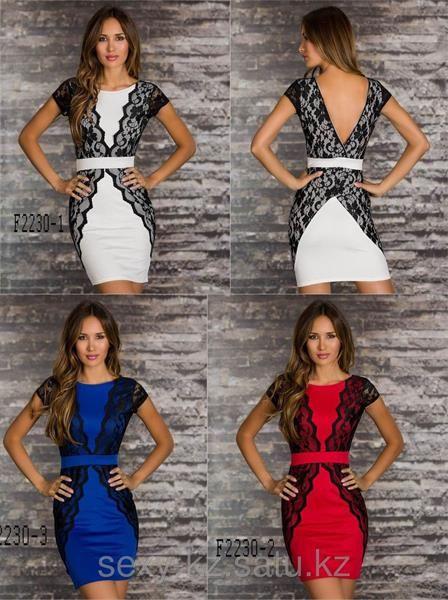 Платье отделанное кружевом