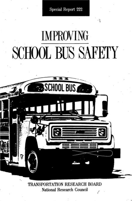 Improving School Bus Safety: Special Report 222  Final Book Now Available  TRB Special Report 222 - Improving School Bus Safety examines the causes of school bus accidents and evaluates the effectiveness of safety measures including seat belts that might better protect children while they are boarding riding and leaving school buses.  Topics: Transportation  http://ift.tt/2pQKc8V