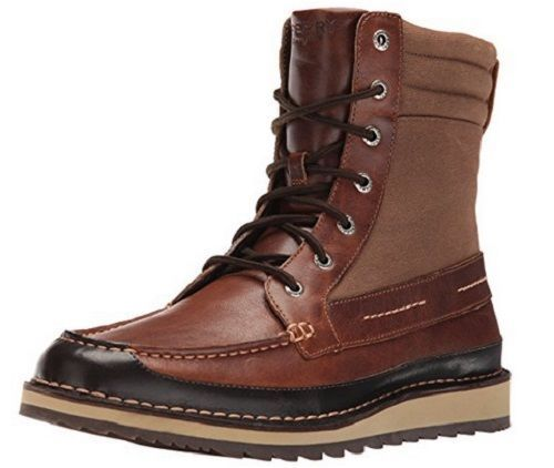 Sperry Top Sider Men's Dockyard Boot Size 9.5M Tan Brown Leather Breathable NIB #SperryTopSider #DockyardBoot