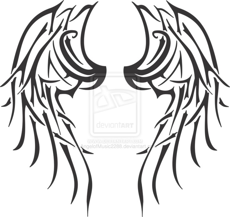 Tribal wings | Tribal Angel Wings by AngelofMusic2288
