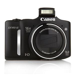"""Canon PowerShot SX160 16MP 16X Zoom 3"""" LCD Screen Compact Camera with HD Video at HSN.com."""