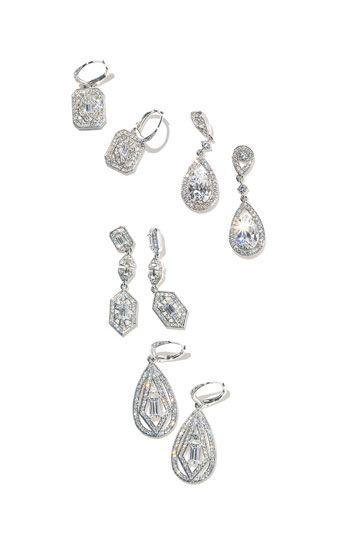 come vintage glam  Nadri 'Art Deco' Drop Earrings (Nordstrom Exclusive)   Nordstrom  #Nordstromweddings