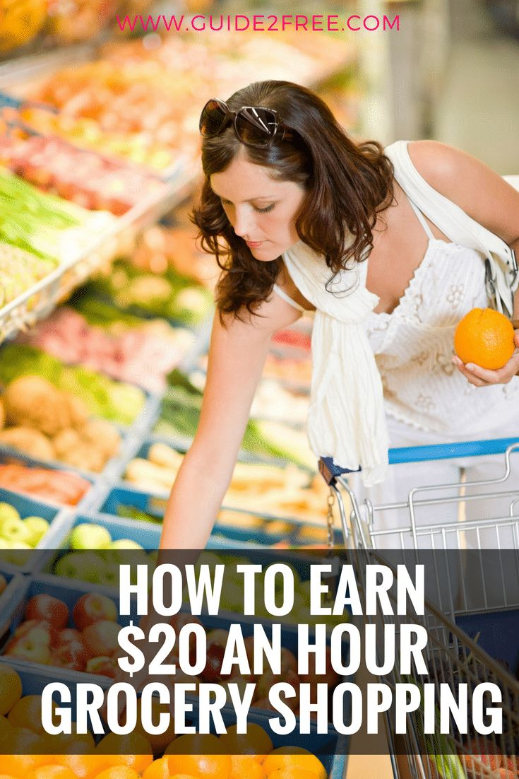 If your the type who doesn't mind heading into the grocery store then you could be making around $20 an hour becoming a personal grocery shopper!  Grocery shopping jobs can pay $14 to $20 an hour and you can work your own schedule. via @guide2free
