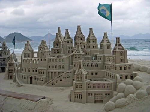 Large Copacabana Beach Sand Castle