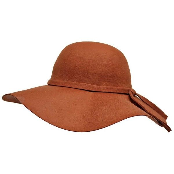 fc36f9fbda9ae Cocoa Brown Wide Brim Diva Style Floppy Hat ($28) ❤ liked on ...