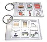 Some great ideas to make portable communication boards and other great tools for kids with Special Needs