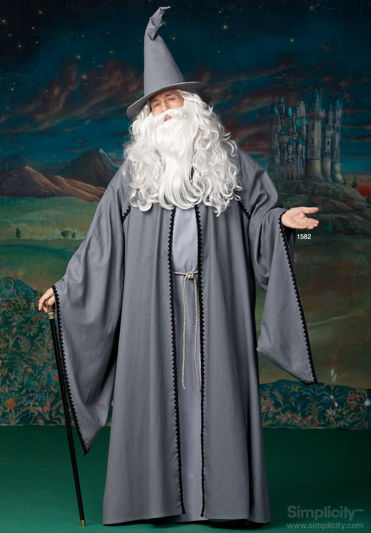 Mens Hooded Cape Costume #SimplicityPatterns #Wizard