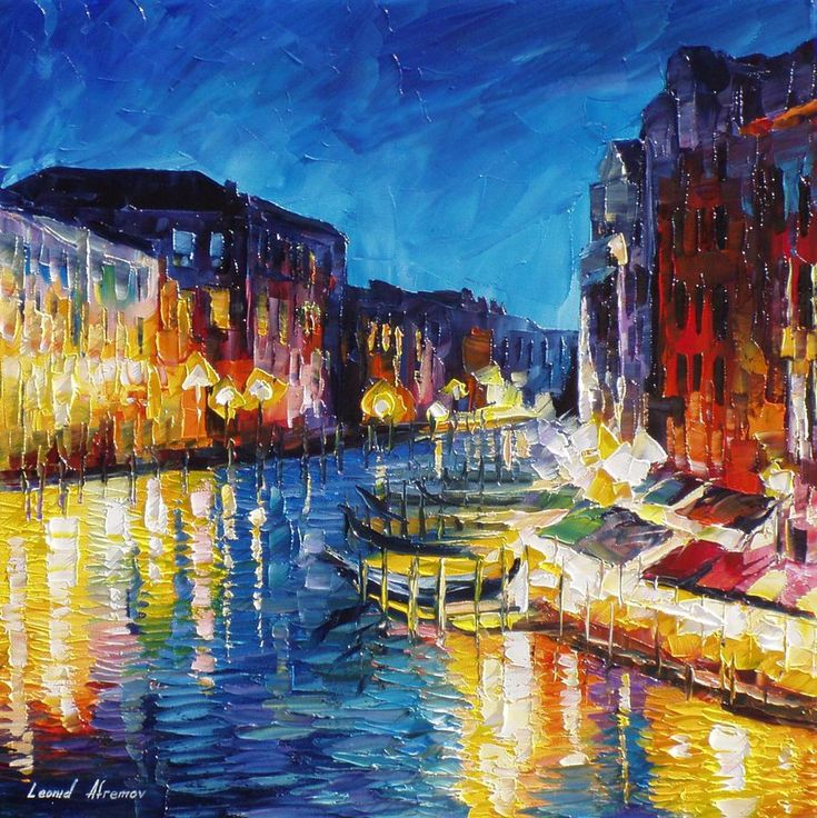 Contemporary Painting Italy Landscape Colour