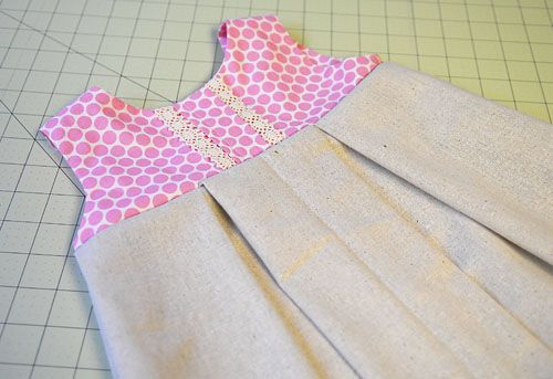 vintage girls dress tutorial from craftiness is not optional