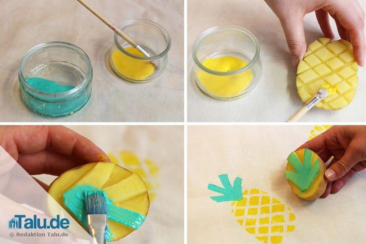 DIY-Stempel mit Kartoffeln - Kartoffeldruck - potato stencil